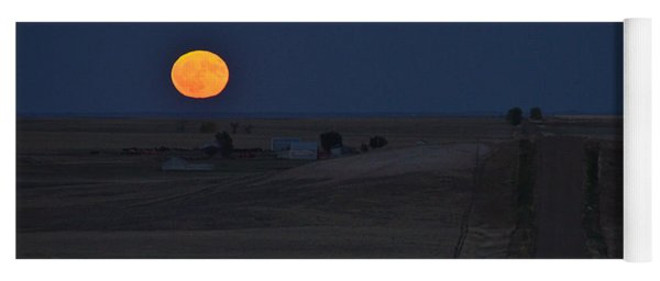 Yoga Mat featuring the photograph Harvest Moon 2 by Carl Young