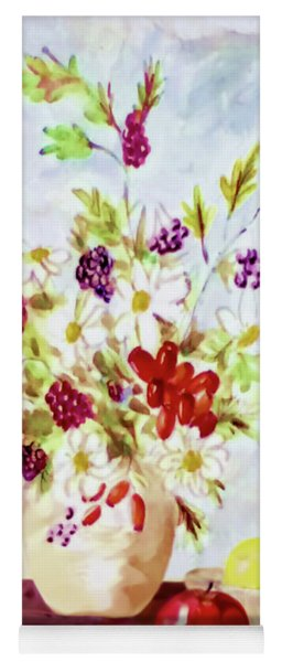 Harvest Time-still Life Painting By V.kelly Yoga Mat