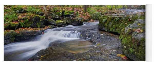 Yoga Mat featuring the photograph Hatch Brook by Bill Wakeley