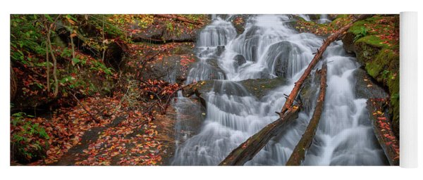 Yoga Mat featuring the photograph Hatch Brook Falls Autumn by Bill Wakeley