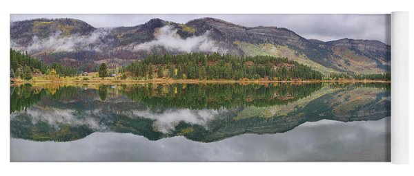 Yoga Mat featuring the photograph Haviland Lake Pano by Theo O'Connor