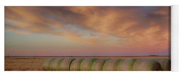 Hay Bales On The High Plains Yoga Mat