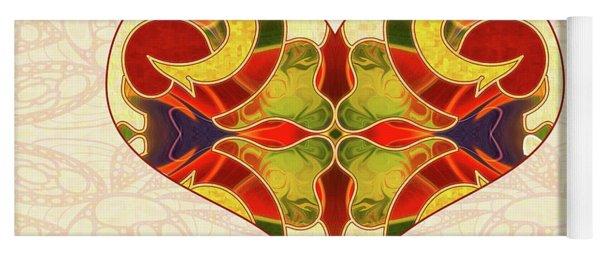 Heart Illustration - Creating Passionate Experience - Omaste Witkowski Yoga Mat