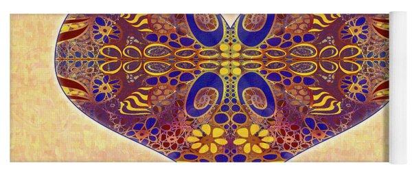 Heart Illustration - Exploding Possibilities - Omaste Witkowski Yoga Mat