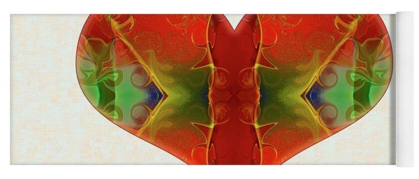 Heart Painting - Vibrant Dreams - Omaste Witkowski Yoga Mat