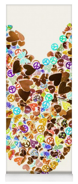 Heart Of A Hippie Yoga Mat