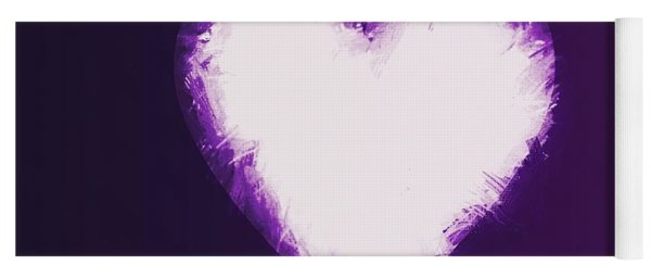 Heart Of Purple Yoga Mat