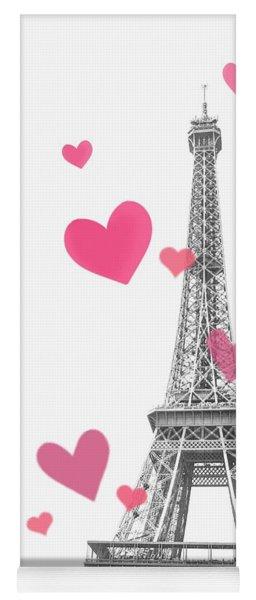 Heart Paris Yoga Mat