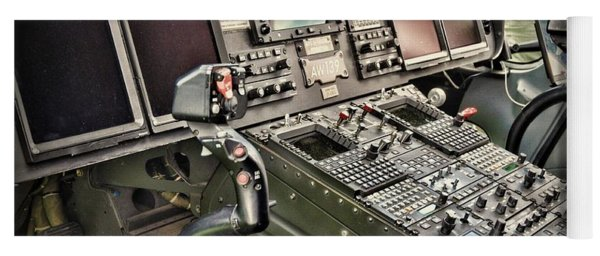 Helicopter Instrument Panel Of The Aw139 Yoga Mat