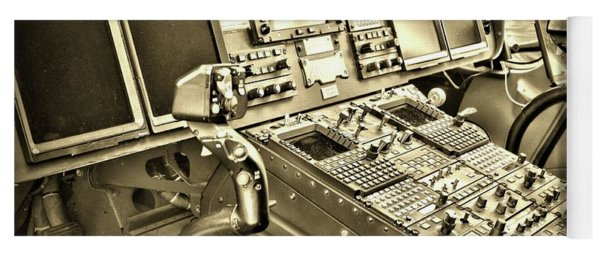 Helicopter Instrument Panel Of The Aw139 Sepia Yoga Mat