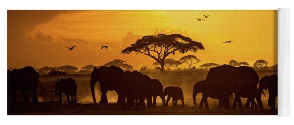 Sunset In Amboseli Yoga Mat