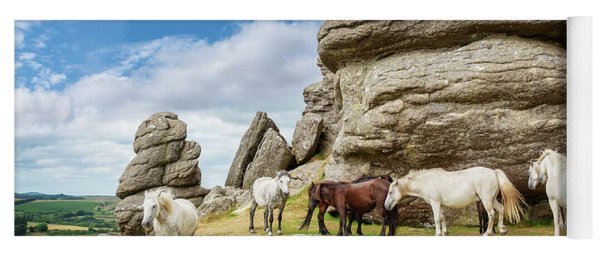 Herd Of Dartmoor Ponies Yoga Mat