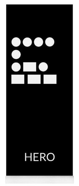 Hero Morse Code- Art By Linda Woods Yoga Mat