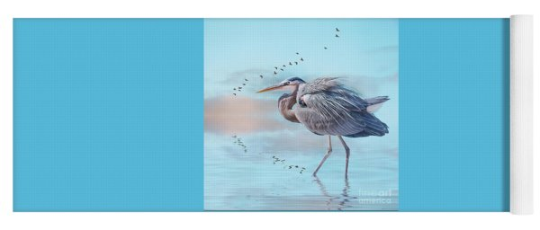 Heron At Sunrise Yoga Mat