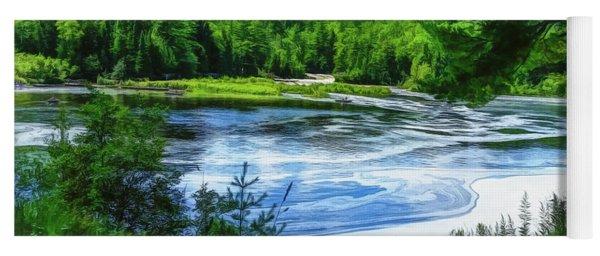 Yoga Mat featuring the photograph Hiawatha's River by Mike Braun