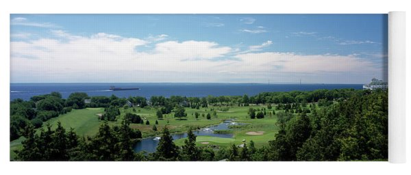 High Angle View Of A Golf Course, Grand Yoga Mat