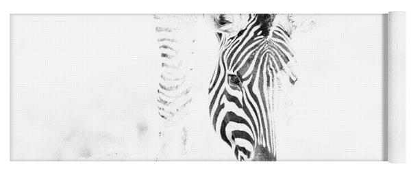 High Key Zebra Drinking Yoga Mat