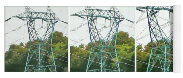 High-voltage Power Transmission Towers 1 Yoga Mat