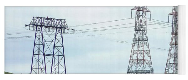 High-voltage Power Transmission Towers  2 Yoga Mat