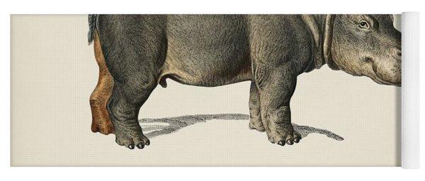 Hippopotamus  Hippopotame Amphibie Illustrated By Charles Dessalines D' Orbigny  1806-1876  Yoga Mat