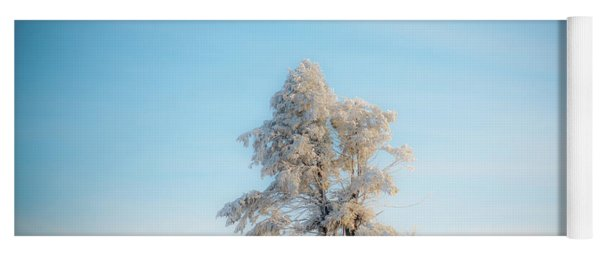 Yoga Mat featuring the photograph Hoarfrost On The Prairie by Mark Duehmig
