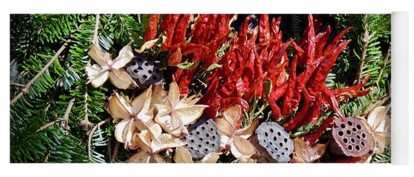 Yoga Mat featuring the photograph Holiday Peppers by Don Moore