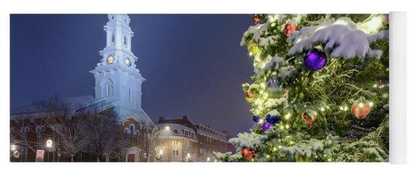 Holiday Snow, Market Square Yoga Mat
