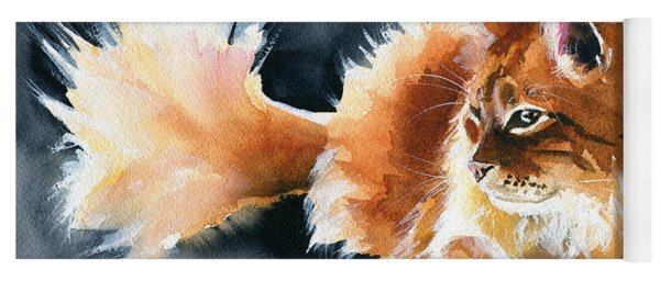 Holy Ginger Fluff - Cat Painting Yoga Mat
