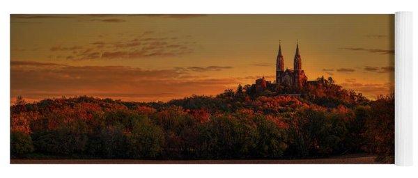 Holy Hill Sunrise Panorama Yoga Mat