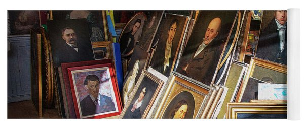 Yoga Mat featuring the photograph Home Of Lost Portraits by Craig J Satterlee