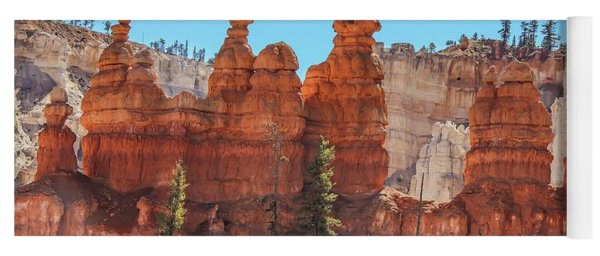 Hoodoos Along The Peek-a-boo Loop Yoga Mat