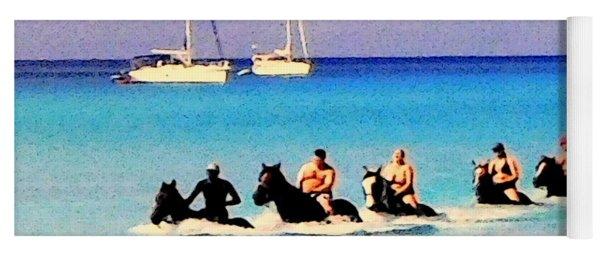 Horse Back Riding 2, Half Moon Cay, Caribbean Yoga Mat