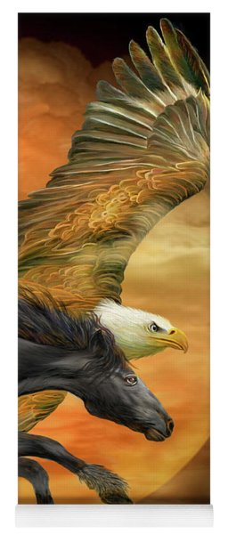 Horse And Eagle - Spirits Of The Wind  Yoga Mat