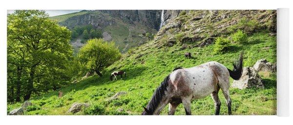 Horse On Balkan Mountain Yoga Mat