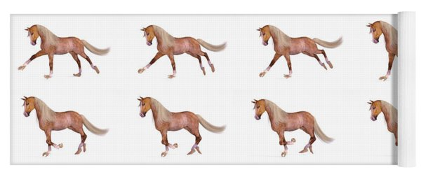 Horse With Human Hands And Feet Yoga Mat