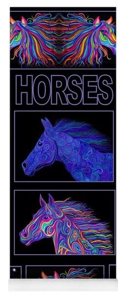 Horses Poster Yoga Mat