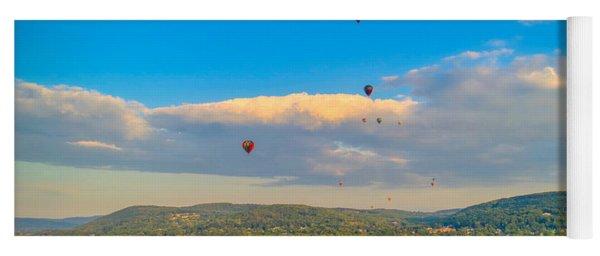 Hot Air Ballon Cluster Yoga Mat