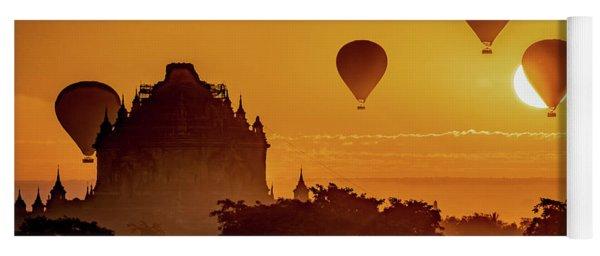 Hot Air Balloons At Sunrise Yoga Mat