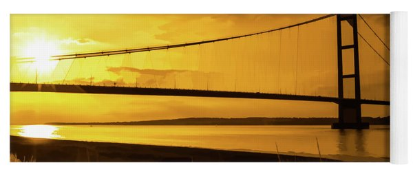 Humber Bridge Golden Sky Yoga Mat