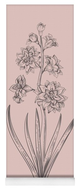 Hyacinth Blush Pink Flower Yoga Mat