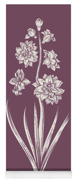 Hyacinth Purple Flower Yoga Mat