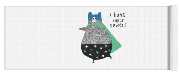 I Have Super Powers - Baby Room Nursery Art Poster Print Yoga Mat