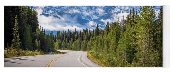 Icefields Parkway Curve Yoga Mat