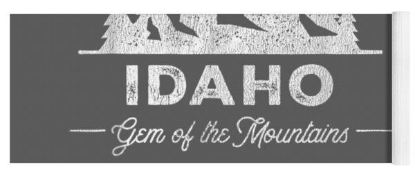 Idaho T Shirt Vintage Hiking Retro Tee Design Yoga Mat