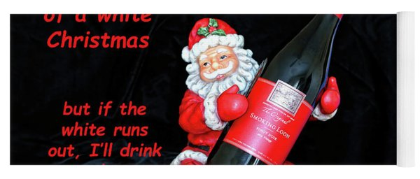 Yoga Mat featuring the photograph I'll Drink Red At Christmas by Kay Brewer