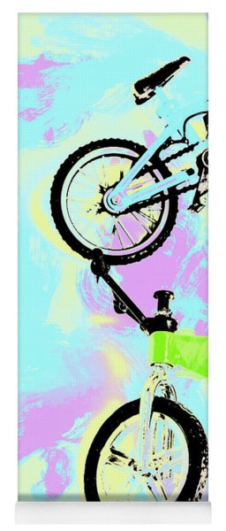 Illustrative Bike Pastel Yoga Mat