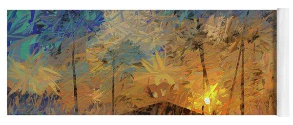 Impressions Of A Beach Sunset Yoga Mat