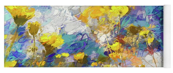 Impressions Of Desert Sunflowers Yoga Mat