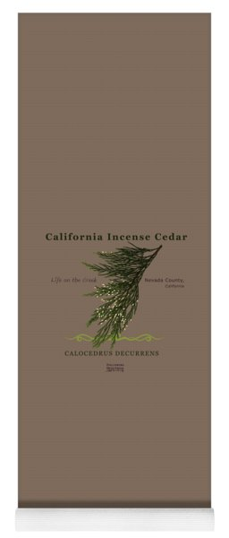 Incense Cedar - Brpwn Text Yoga Mat