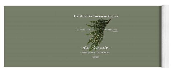 Incense Cedar - White Text Yoga Mat